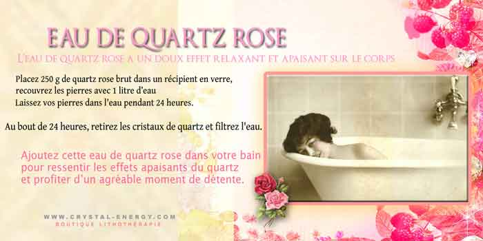 eau quartz rose